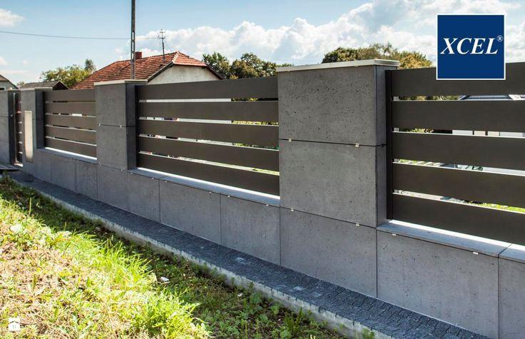 Nowoczesne Ogrodzenie Xcel Horizon Beton Architektoniczny Ogrodzenia - zdjęcie od XCEL Ogrodzenia - Ogród - Styl Nowoczesny - XCEL Ogrodzenia