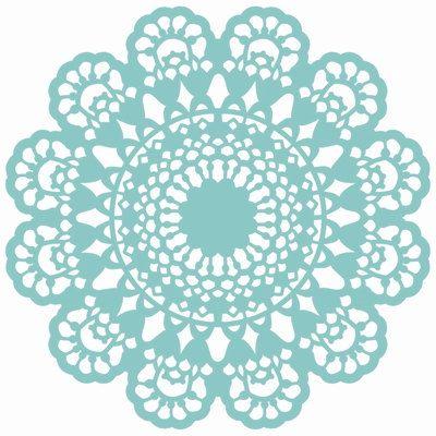 12 x 12 plastische Spitzen Deckchen Vorlage / von ThePaperTreeCo