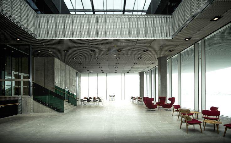 Interior hallway in Urban Media Space Dokk1.   Photo by www.ditlevart.dk
