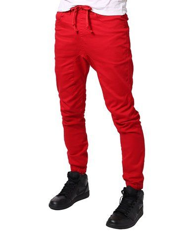 ColourBlock Men's Slim Fit Leather Trimmed Sweatpant joggers xZVcgI9V