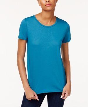 Eileen Fisher Organic Cotton T-Shirt - Blue XL