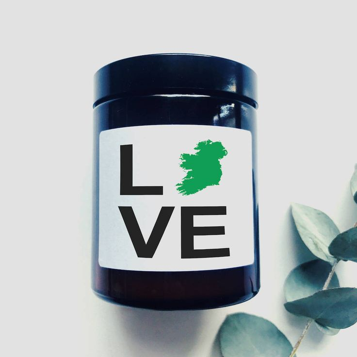 LOVE Soy Wax Scented Candle - Ireland - New Home - Missing Ireland - Homesick - Moving House - Valentines Day - St Patricks by TheIrishChandler on Etsy
