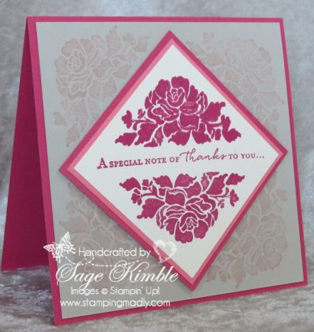 Make a Thank You Card with Floral Phrases Stamp Set | Stamping Madly