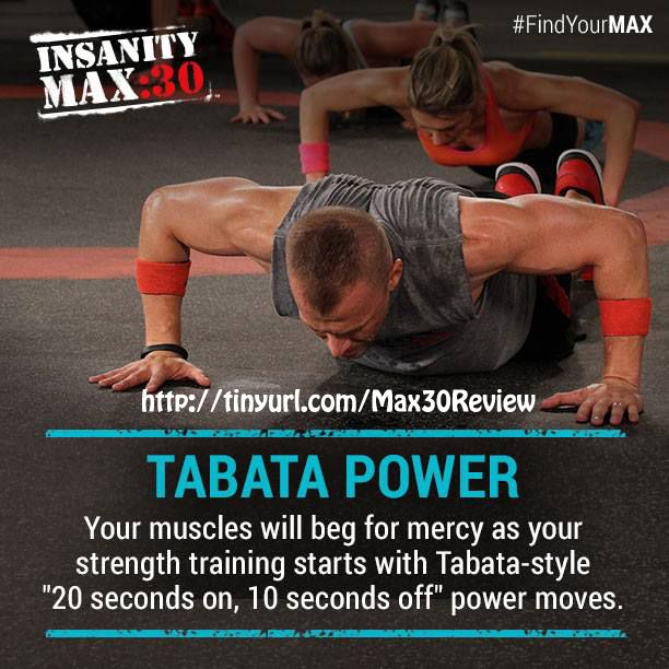 What kind of new workouts are in Insanity MAX 30? How about some Tabata Power? 20 seconds On, 10 seconds Off of power moves! Check it out here: http://www.tipstoloseweightblog.com/weight-loss/insanity-max-30-review #Insanity2Max30