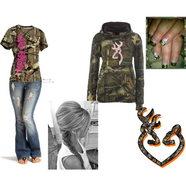 """Mossy Oak or Browning ?"" by camo-ammo-queen on Polyvore"