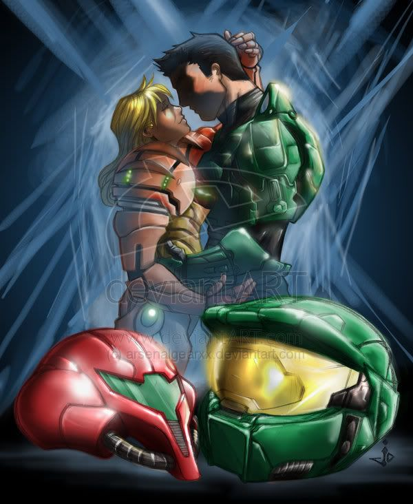 master chief and samus porn