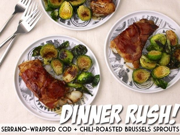 2861 best thanksgiving dinner recipes images on pinterest serrano wrapped cod chili roasted brussels sprouts from cooking channel forumfinder