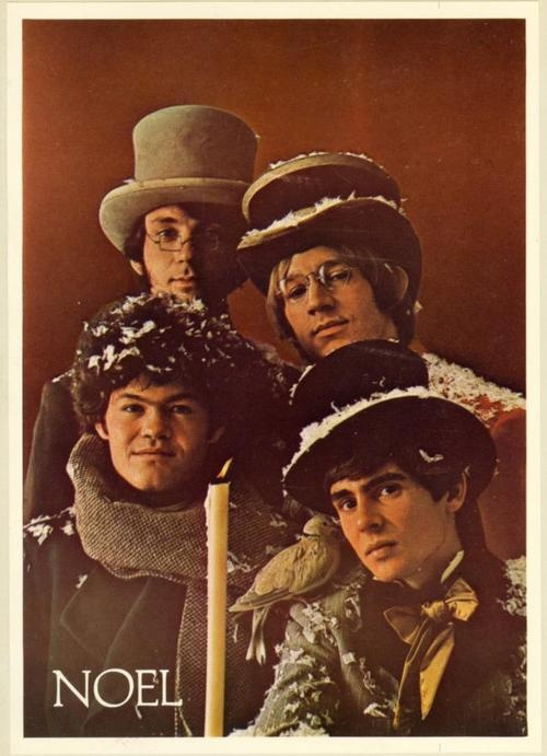 Merry Christmas from The Monkees, Micky Dolenz, Davy Jones, Mike Nesmith, Peter Tork.
