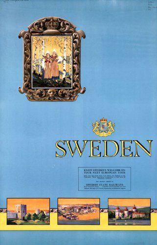 14 best scandanavia vintage travel poster prints images on for Olimpici scandinavi