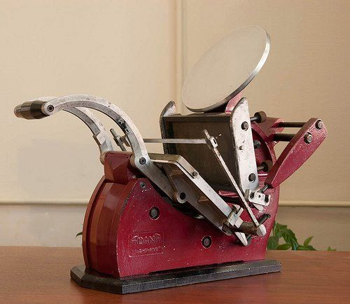 Adana 8x5 letterpress machine