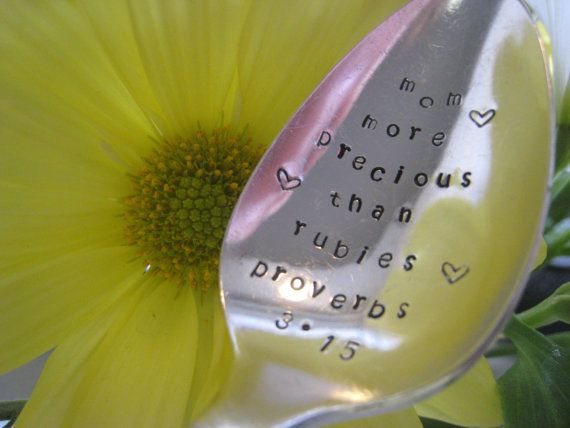 Handmade Gift for Mom Personalized Gift for by SilverSpoonful, $12.00