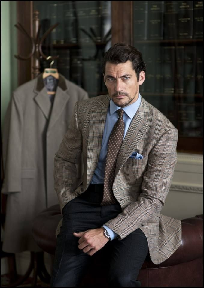 David Gandy wearing Henry Poole