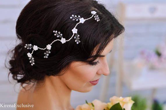 Sposa capelli accessori tiara nuziale Wedding tiara copricapo