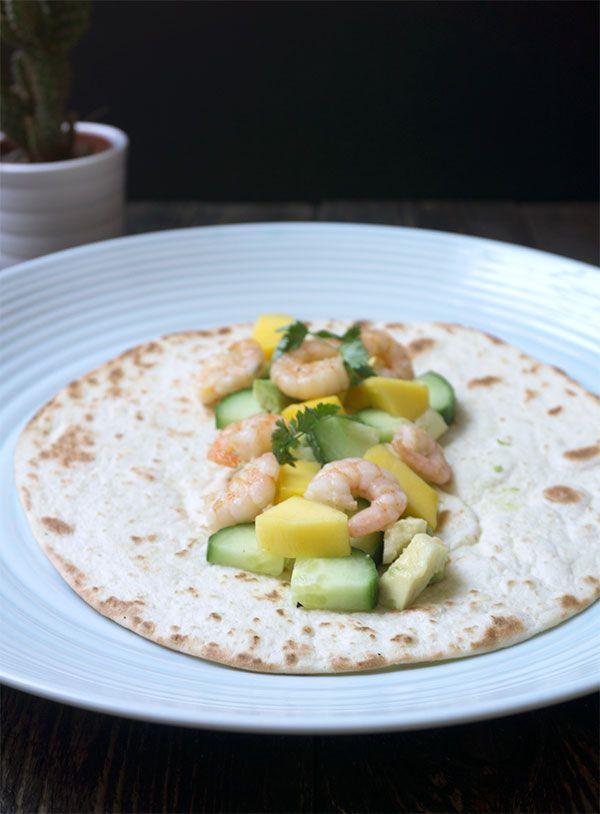 zomerse wraps met garnalen - Great Little Kitchen #garnalen #wraps #mango