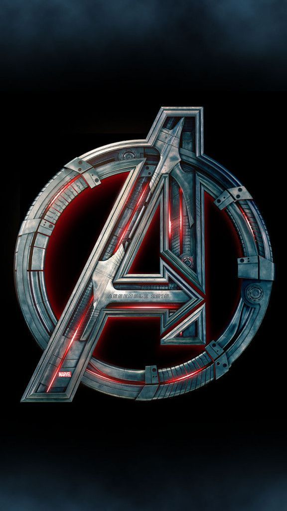 Avengers-2-Age-of-Ultron-Logo-iPhone-6-Wallpaper - Visit to grab an amazing super hero shirt now on sale!