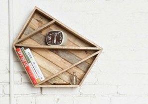 Geometrische plank voor speels effect aan je lege muur