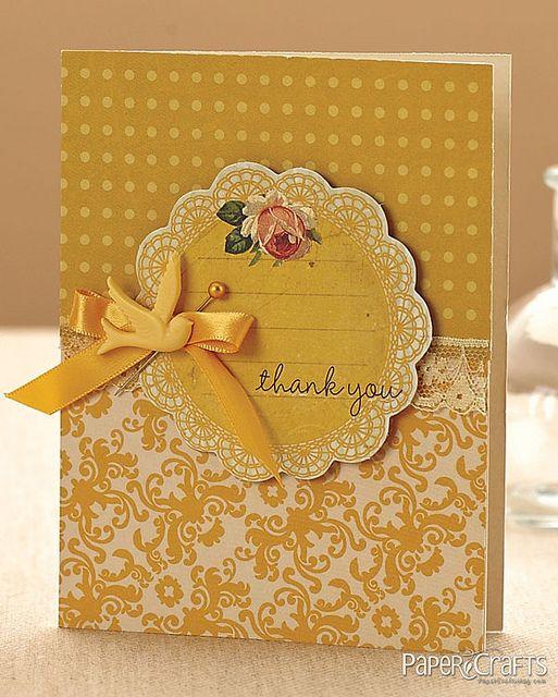 Марта, желтая открытка своими руками