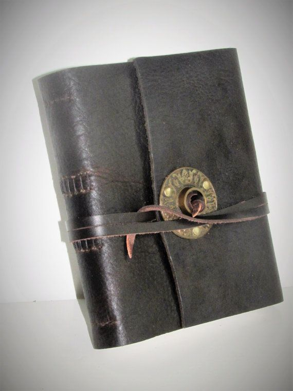 handmade leather journal leather photo album by