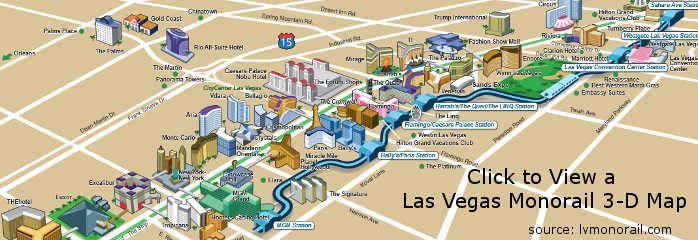 Las Vegas Monorail 3D Map