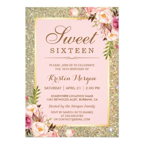 best 25+ sweet 16 invitations ideas on pinterest | sweet sixteen, Birthday invitations