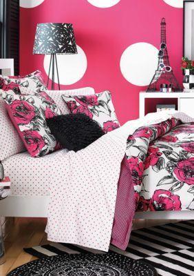 Teen Vogue  Sketched Roses Bedding