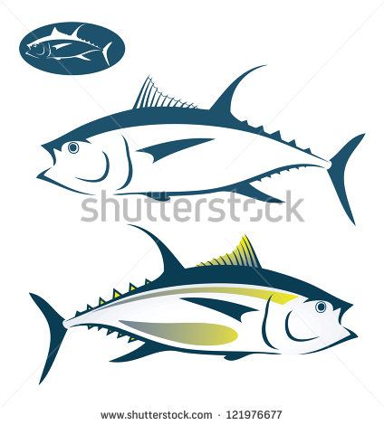 tuna fish vector illustration stock vector tuna fish