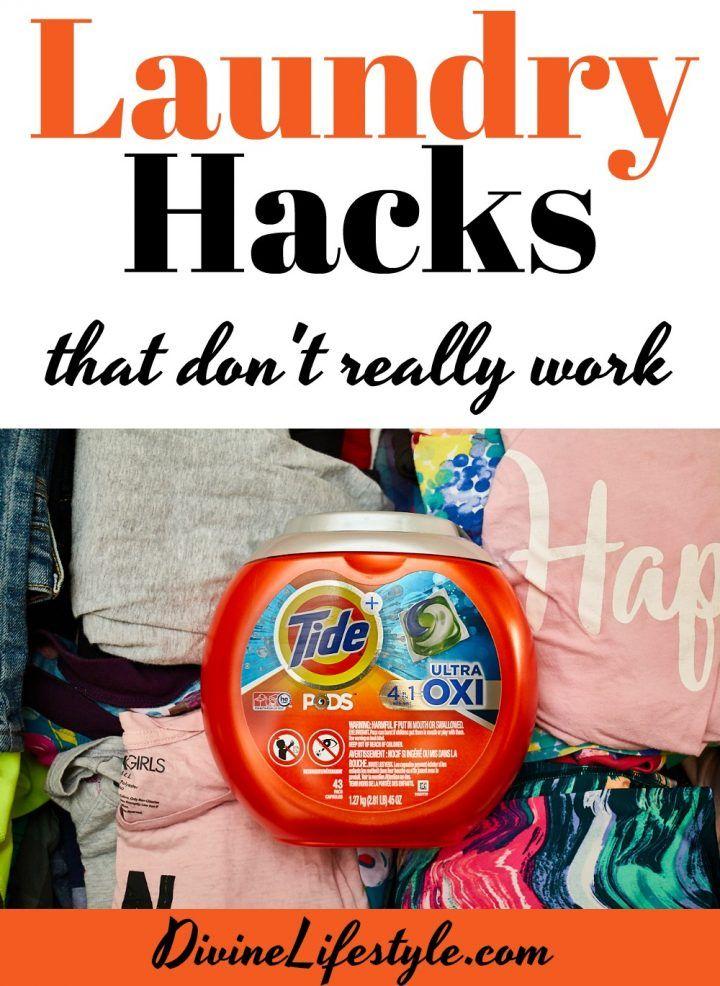 #AD Laundry Hacks That Don't Really WorkTide Detergent ~ DivineLifestyle.com ~ #TideBeatsHacks #laundry #laundrytips