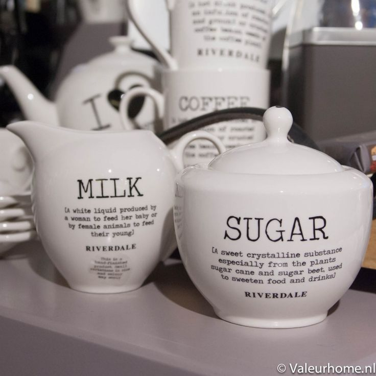 Riverdale Sugar & Milk set Love