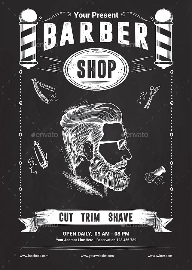 Barber Shop Flyer Template By Yudha SBS