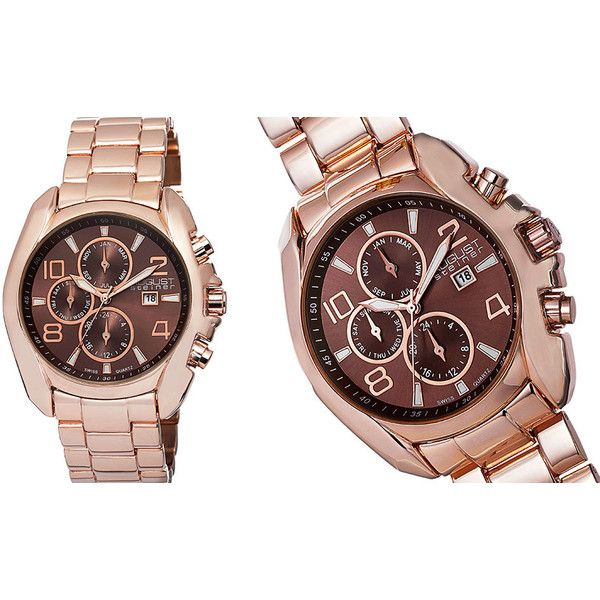 Men's Joshua & Sons ClearanceAugust Steiner Multifunctional Men's... (€37) ❤ liked on Polyvore featuring men's fashion, men's jewelry, men's watches, jewelry & watches, rose tone, mens rose gold watches and mens watches jewelry