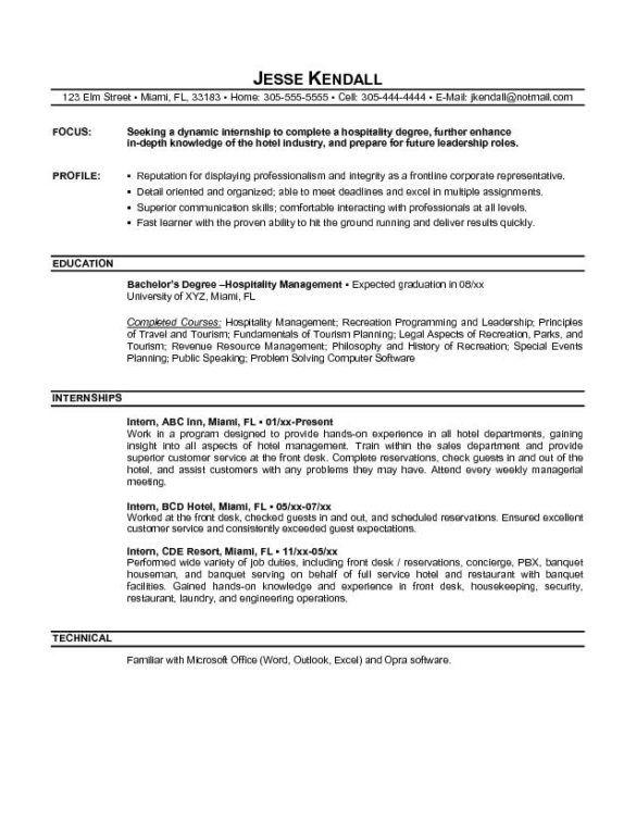 best 25 good resume format ideas on pinterest good resume front desk hotel resume