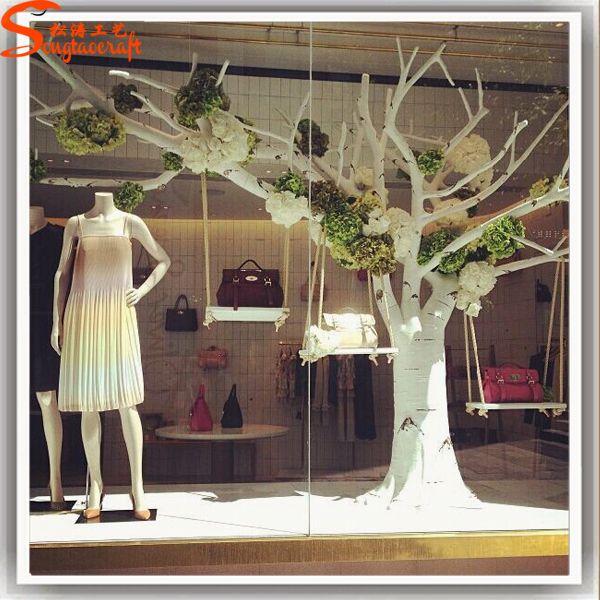 Negozio Filiali decorazioni in fibra di vetro artificiale bianco albero secco foto su it.Made-in-China.com
