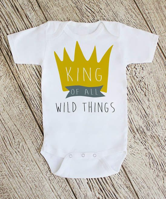 66c3307df 'King of All Wild Things' Bodysuit - Newborn & Infant #charming#graphic# bodysuit. '