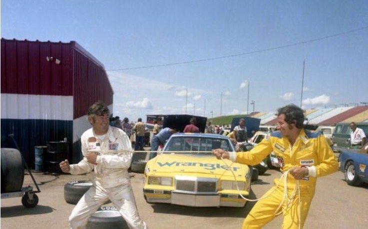 Texas motor speedway, 1981. Dale and Bobby Allison