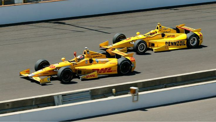 Ryan Hunter-Reay stops Helio from winning his 4th at the 98th Indianapolis 500.