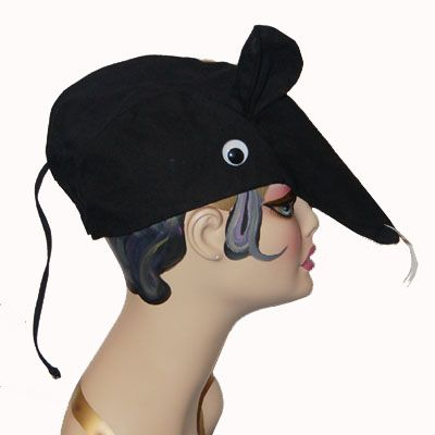 Rat Hat from We Hats (Grab a bunch! Perfect for the Nutcracker Suite) #millinery #hat #hats #passion4hats #pandemonium #pandemoniumhats, #pandemoniummillinery #Seattle #WA #handmade #madeinUSA #crueltyfree #vintage #classic #hairloss #wehats #rat #mouse #nutcracker