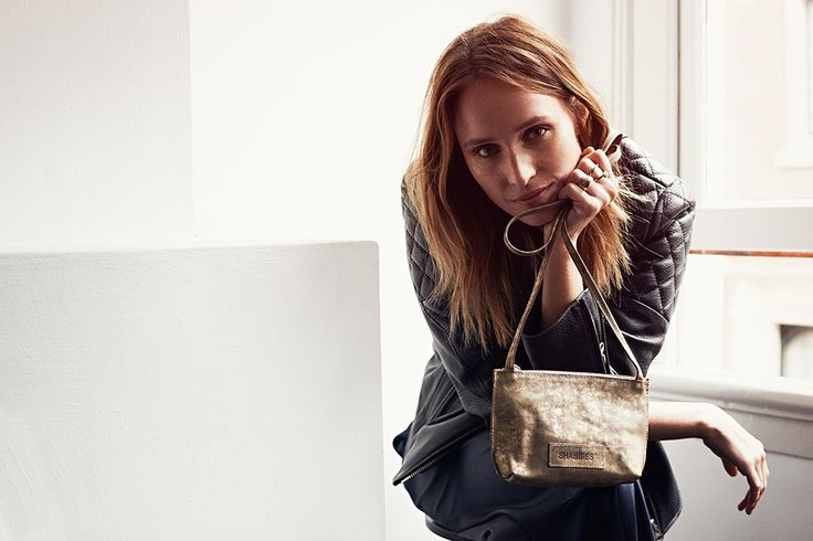 Shop this golden #shoulderbag from the Shabbies Amsterdam campaign.