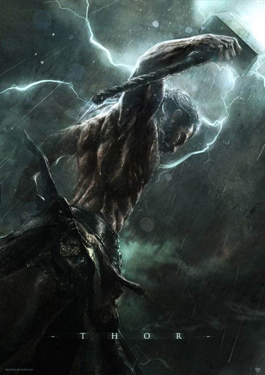 I see a God with a Hot Body & a Hammer. Could this be Thor? Hot Digital Art by Deryl Braun/ Thor