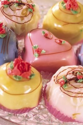 How to Make Vanilla Petit Fours.  These look so dainty and would make a lovely addition to a little girl's tea party.