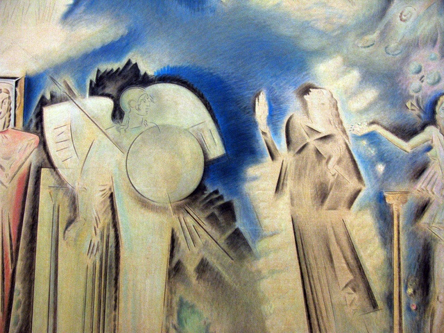 """The Apotheosis of Athanasios Diakos"" (before 1933) - Parthenis Konstantinos (1878 - 1967) by Tilemahos_E, via Flickr"