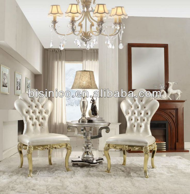 New Classical Living Room Furniture Set, Victorian Series, Wing Chairs Small  Coffee Table,