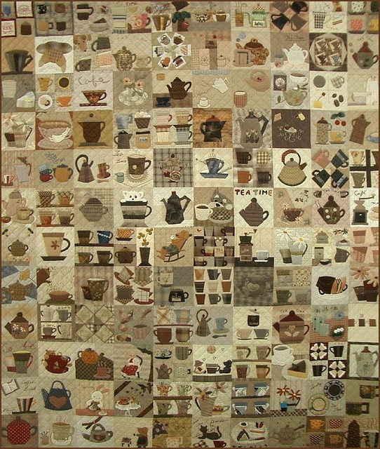 Finally this is the one!  I can merge all the tea and coffee into one neat quilt like this