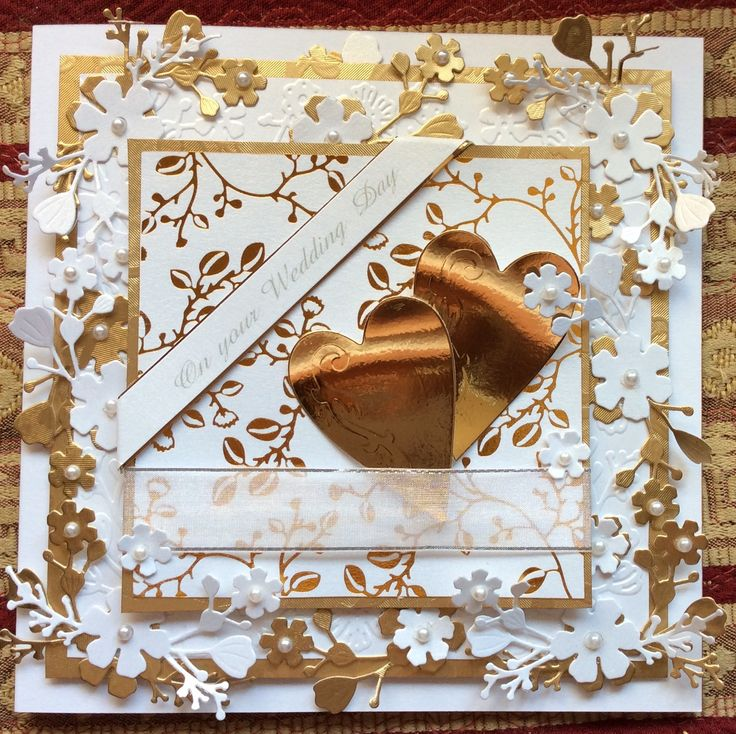 Made by Loraine Keeney - My favourite ..the chinoise, so versatile, and very effective. This card was 300gsm, embossed with the chinoise embossing folder. Gold foiled, Matt & layered up, chinoise die cut flowers foiled with the remains of the foil from the topper. Just so easy..maximum effect.