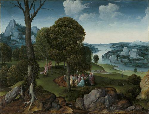 Joachim Patinir, Landscape with St John the Baptist Preaching, Musées royaux des Beaux-Arts de Belgique - Joachim Patinier — Wikipédia