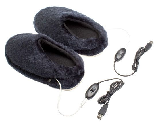 USB Heating Slippers. My feet always seem to be cold. This would help!