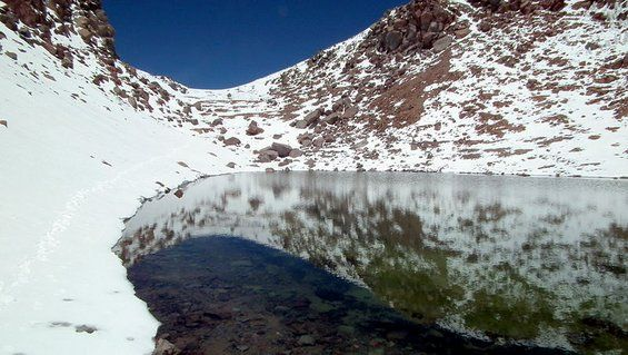 Mysterious Lakes formed in craters – Licancabur,Chile
