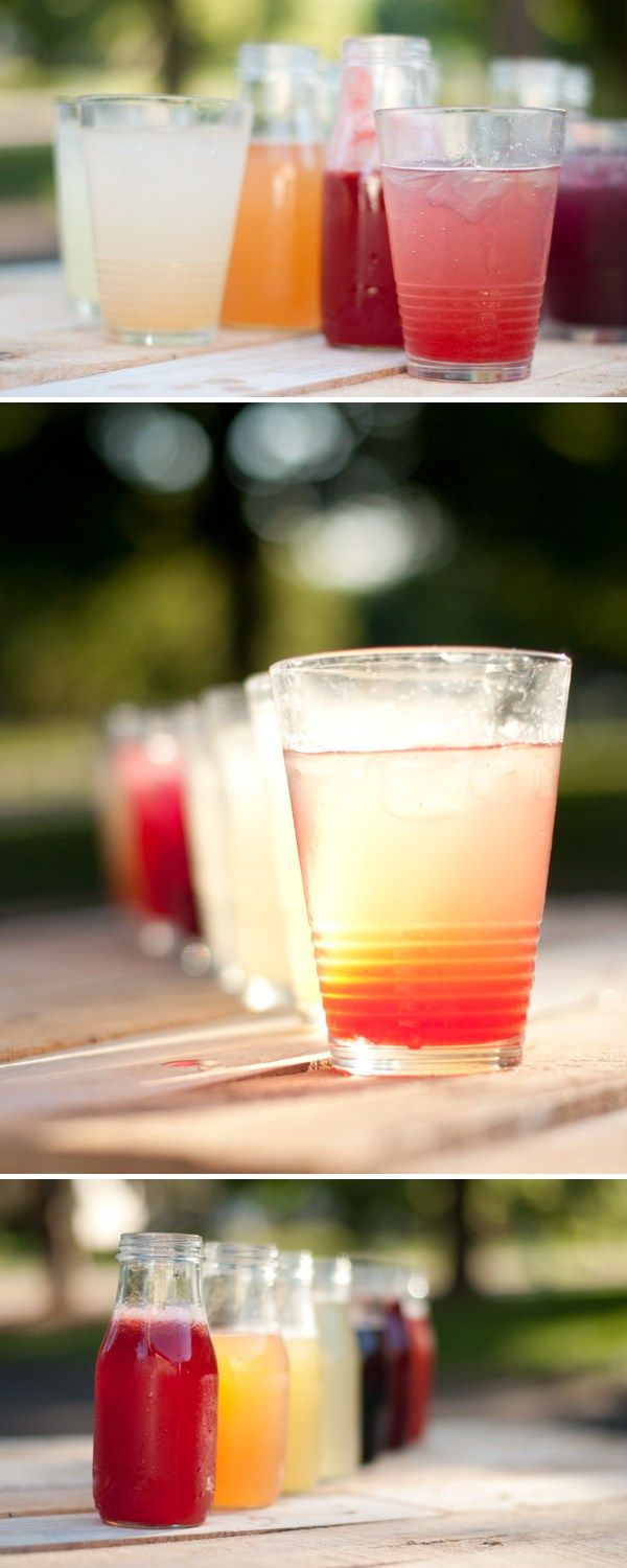 Fruit Simple Syrups.  You'll Need: sugar, water, and fruit (fresh or frozen) or fruit juice.