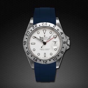 Blue Rubber Strap   http://rubberb.com/en/rolex-watch-band-products/rolex-explorer-ii-40mm-classic