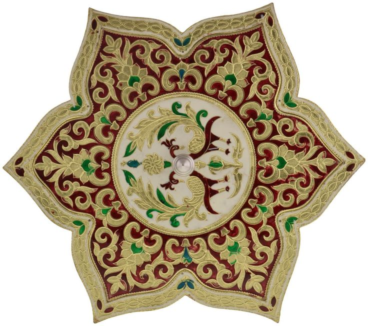 Buy Arka Metal Meenakari Star Shaped Dry Fruit Box (33 Cms x 33 Cms x 4 Cms, Gold) Online at Low Prices in India - Amazon.in