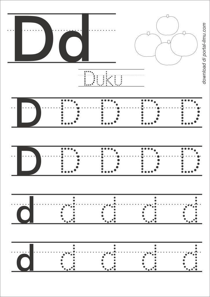 Belajar Menulis Huruf Dengan Huruf Titik Titik Portal Ilmu Com Belajar Menulis Huruf Printable learning alphabet worksheets